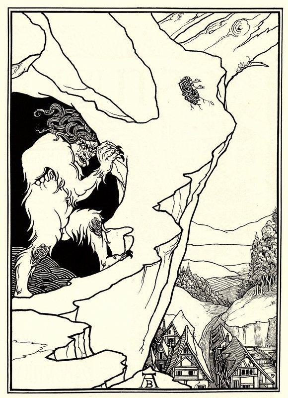The Landslip - Aubrey Beardsley