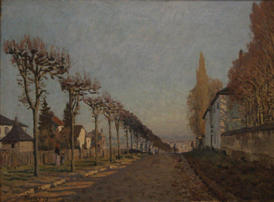 The lane of the Machine - Alfred Sisley