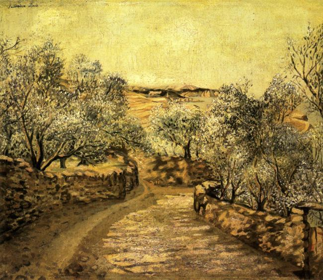 The Lane to Port Lligat with View of Cap Creus - Salvador Dali