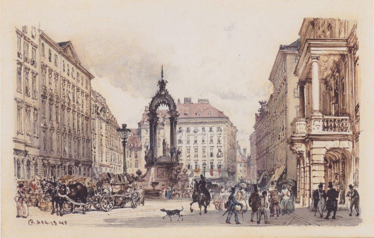 The large market in Vienna - Rudolf von Alt