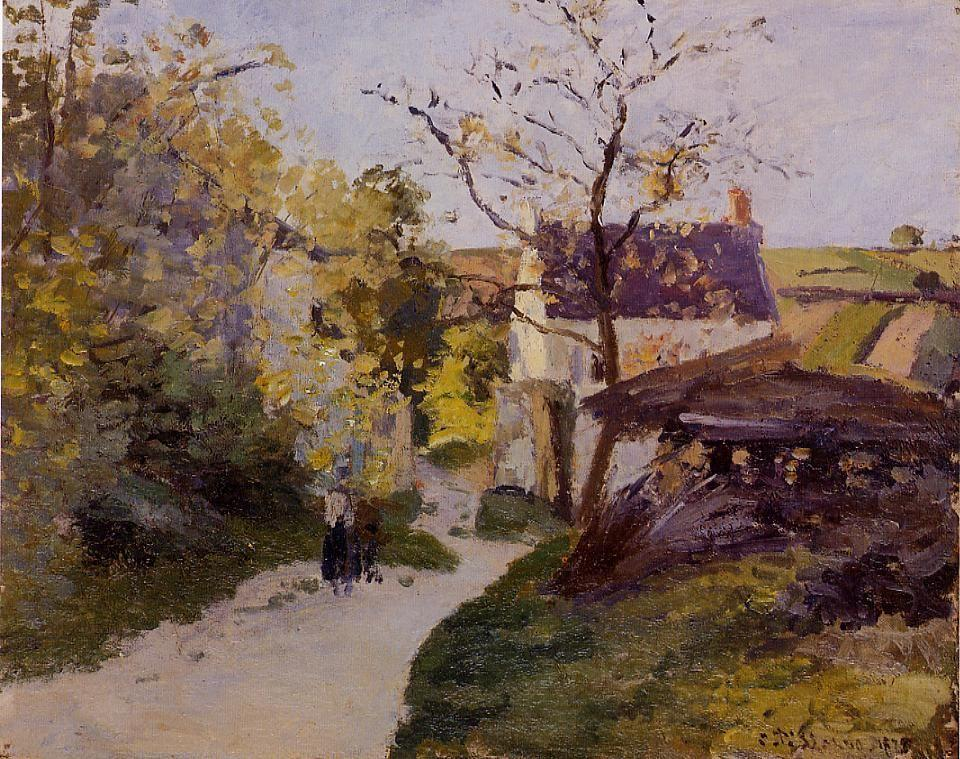 The Large Walnut Tree at Hermitage - Camille Pissarro