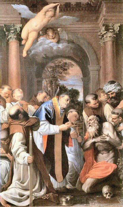 The Last Communion of St. Jerome - Agostino Carracci