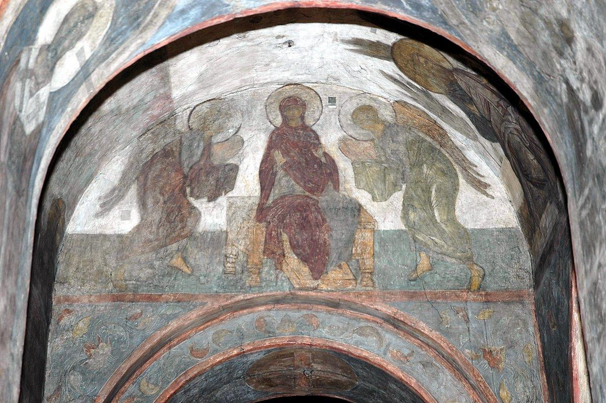 The Last Judgement: Mother of God with angels - Andrei Rublev