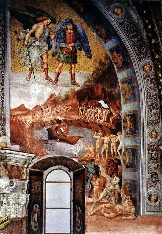 The Last Judgment (The right part of the composition - The Damned Consigned to Hell) - Luca Signorelli