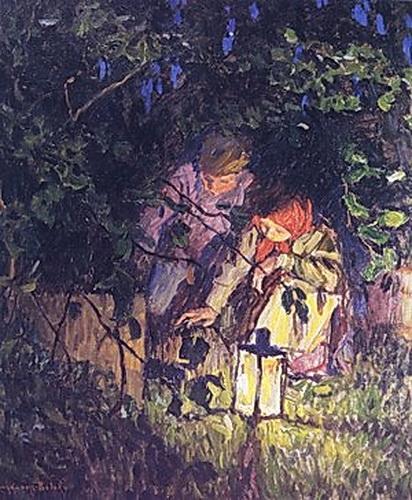 The Latern - Nikolay Bogdanov-Belsky