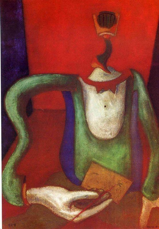 The letter - Max Ernst