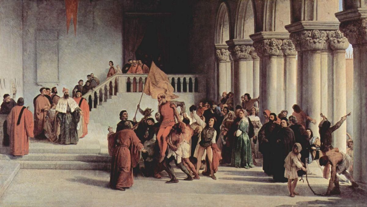 The liberation from the prison of Vettor Pisani - Francesco Hayez