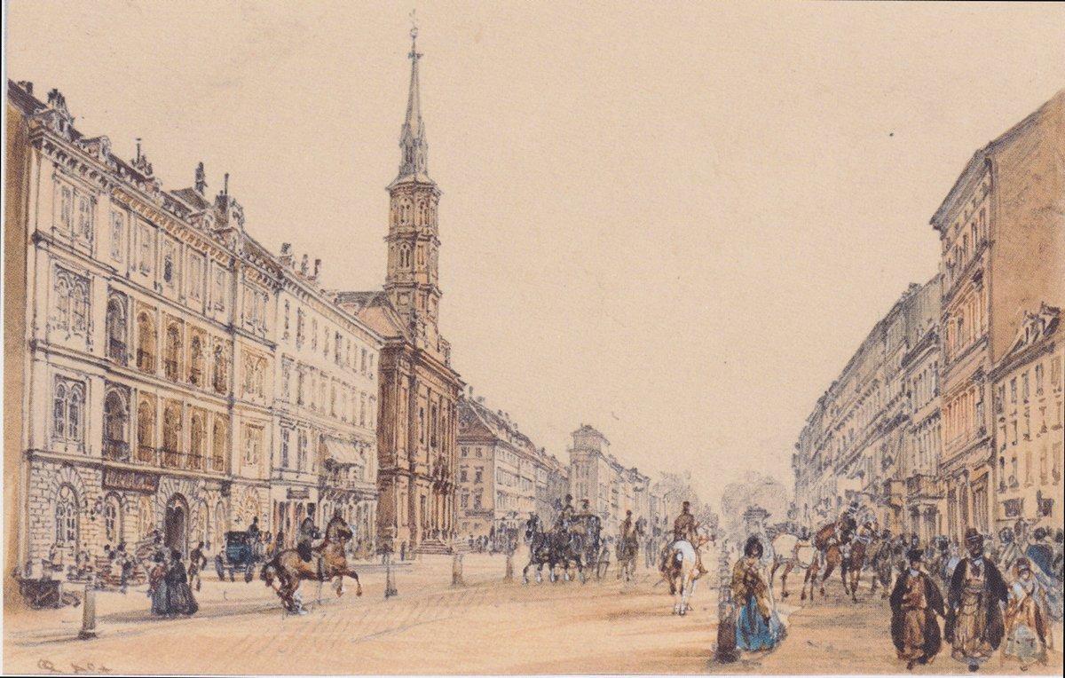 The line of Hunter in Vienna - Rudolf von Alt
