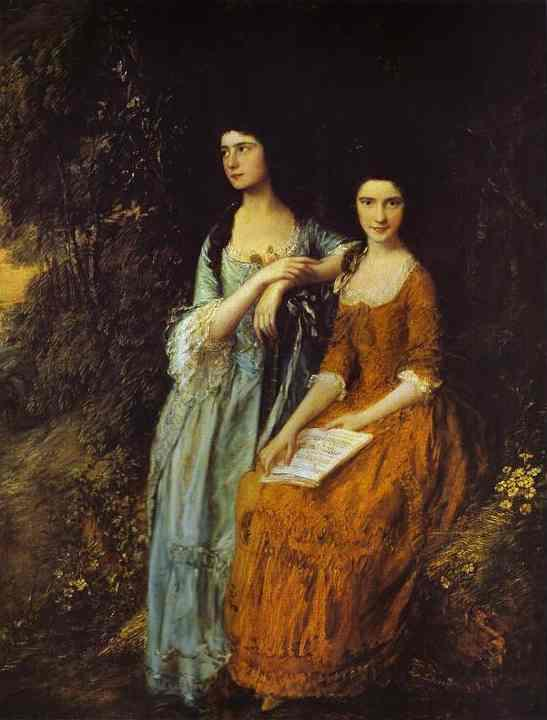 The Linley Sisters (Mrs. Sheridan and Mrs. Tickell) - Thomas Gainsborough
