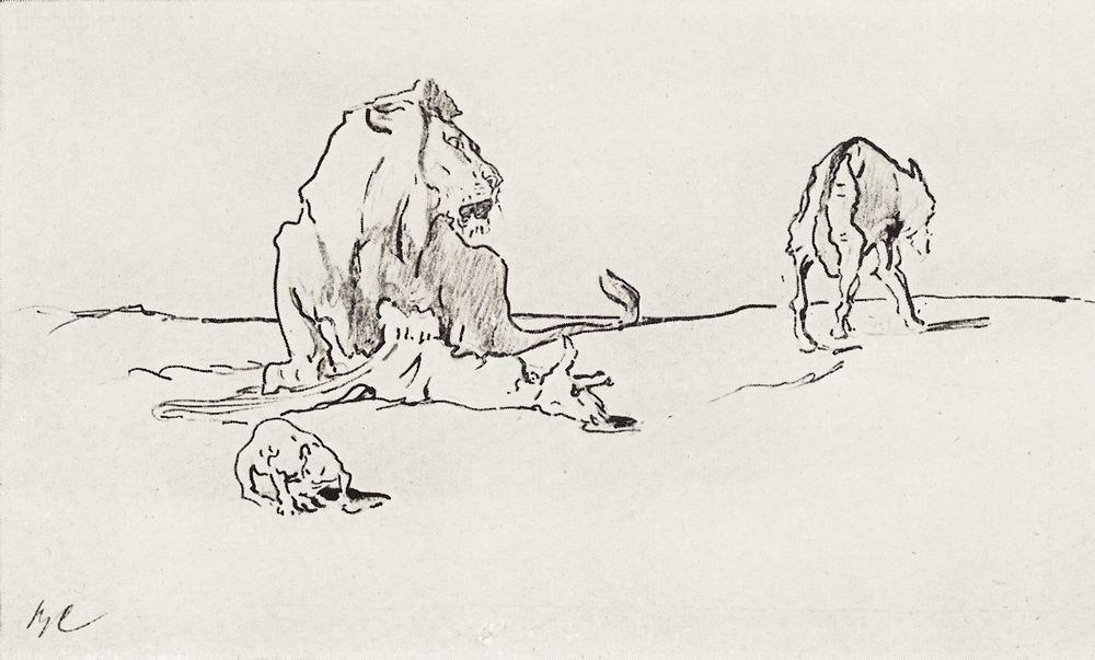The Lion and the Wolf - Valentin Serov