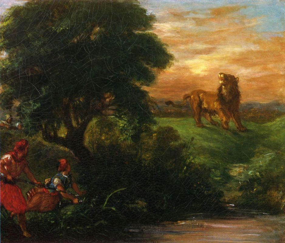 The Lion Hunt - Eugene Delacroix