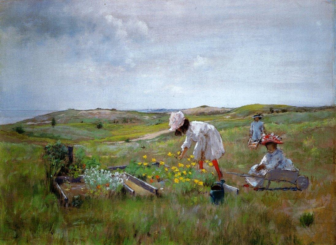 The Little Garden - William Merritt Chase