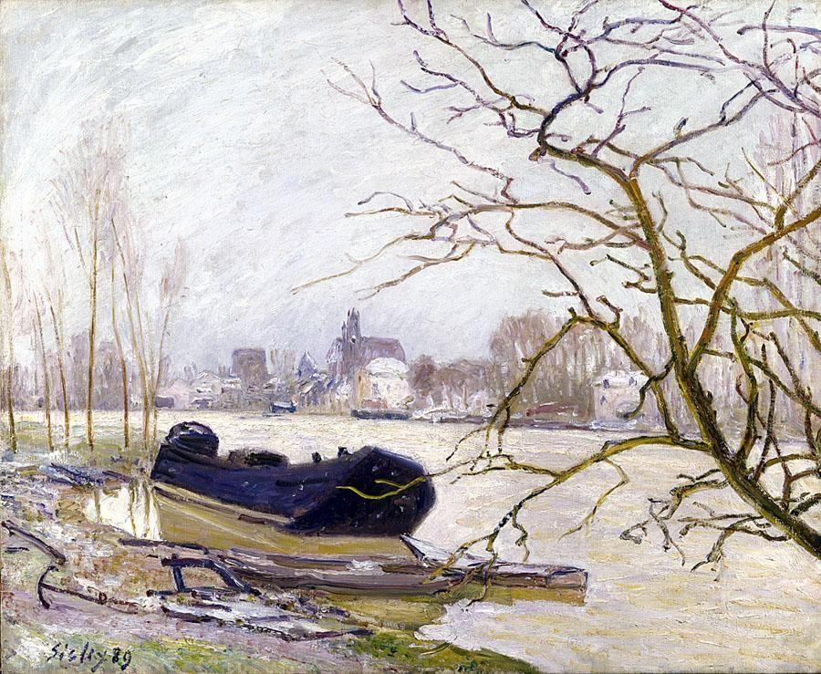 The Loing at High Water - Alfred Sisley