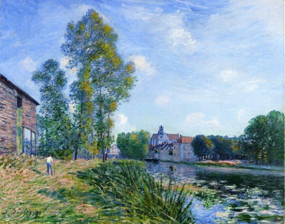 The Loing at Moret in Summer - Alfred Sisley