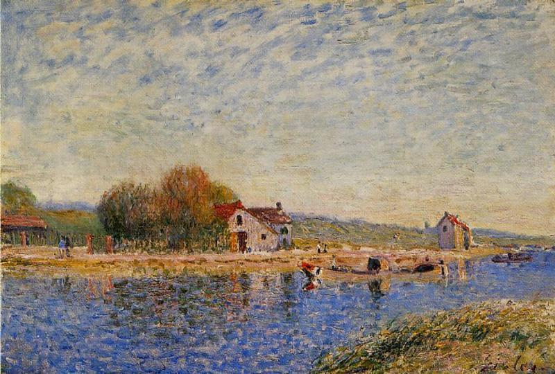 The Loing Canal - Alfred Sisley