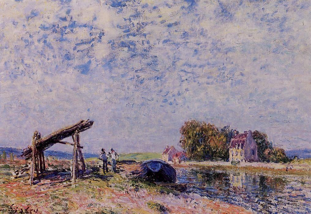 The Loing Canal at Saint Mammes - Alfred Sisley