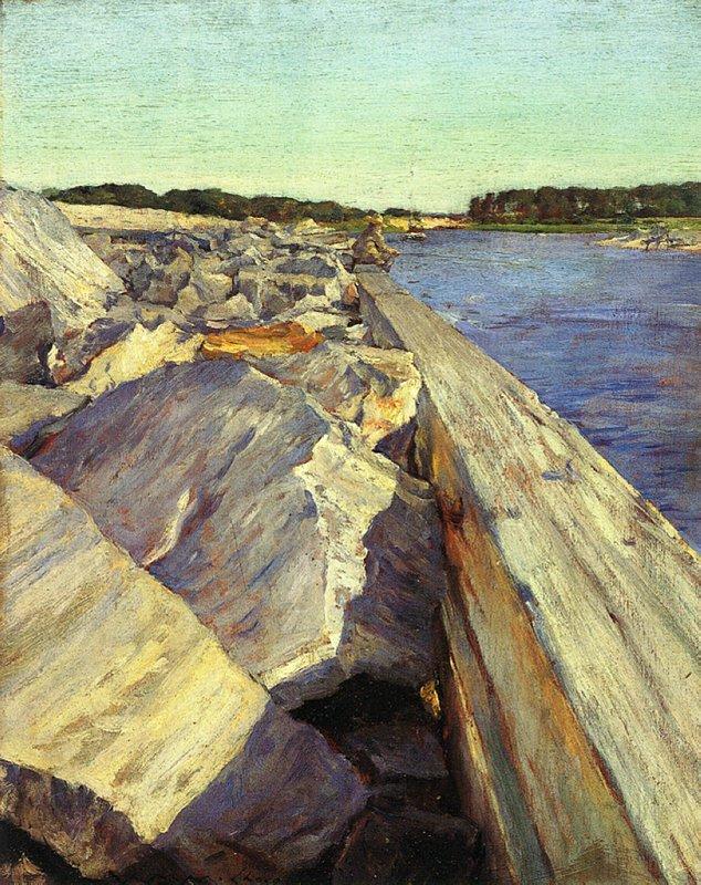 The Lone Fisherman - William Merritt Chase