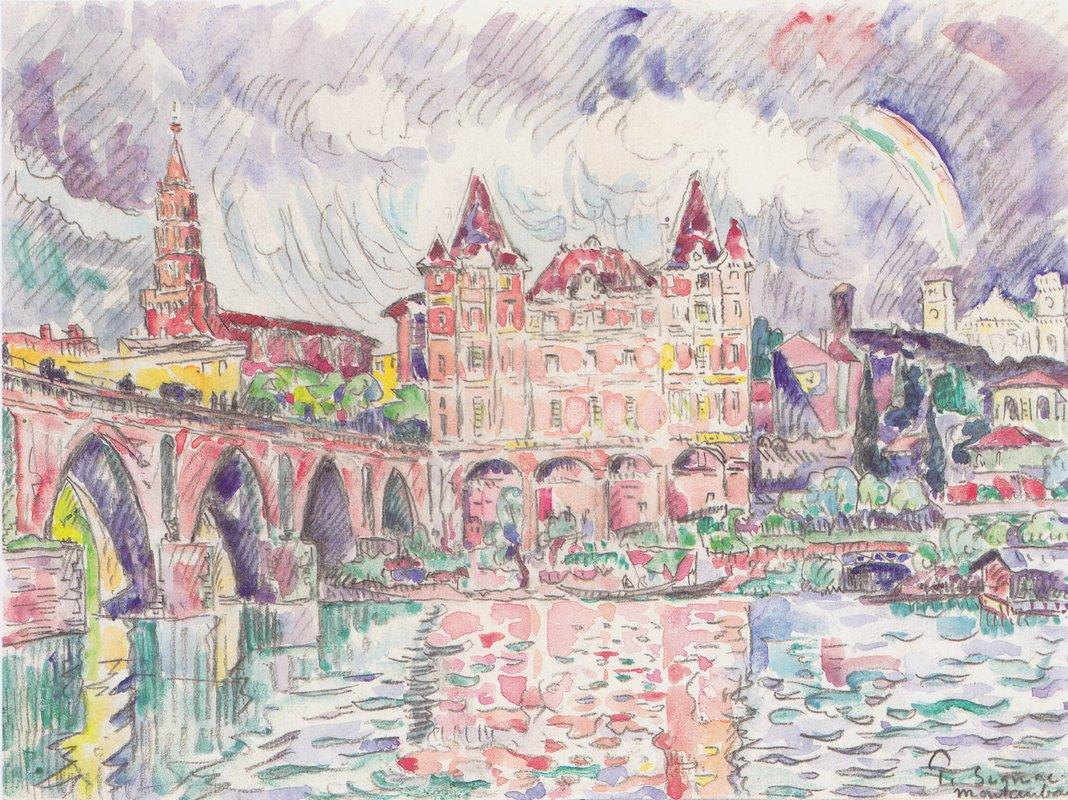 The Look at Montauban in rain - Paul Signac
