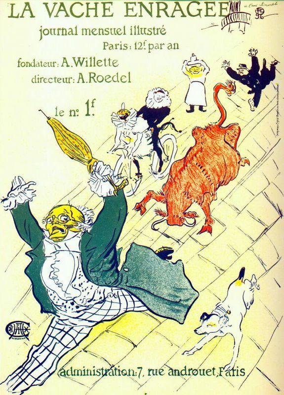 The mad cow - Henri de Toulouse-Lautrec