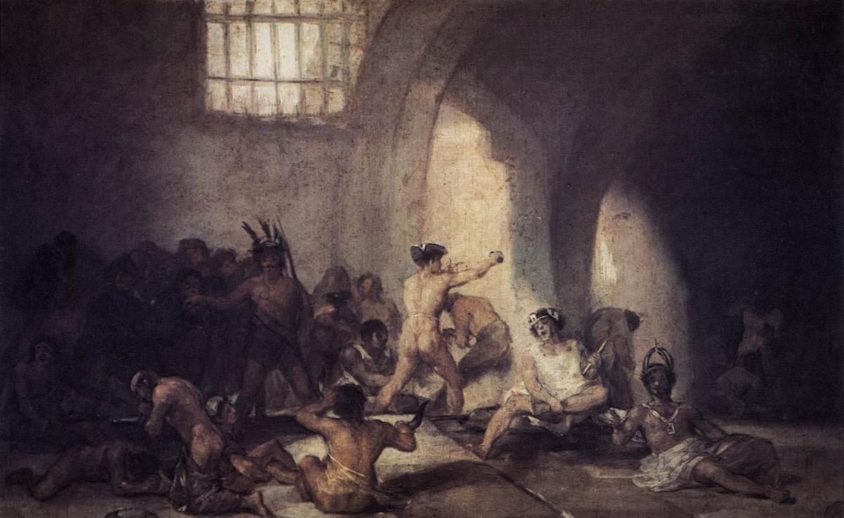 The Madhouse - Francisco Goya