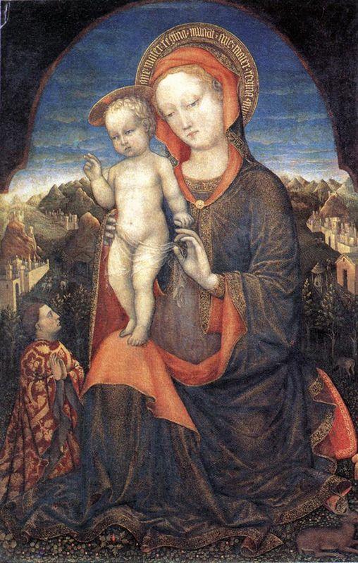 The Madonna of Humility adored by Leonello d'Este - Jacopo Bellini