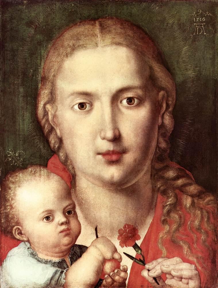 The Madonna of the Carnation - Albrecht Durer