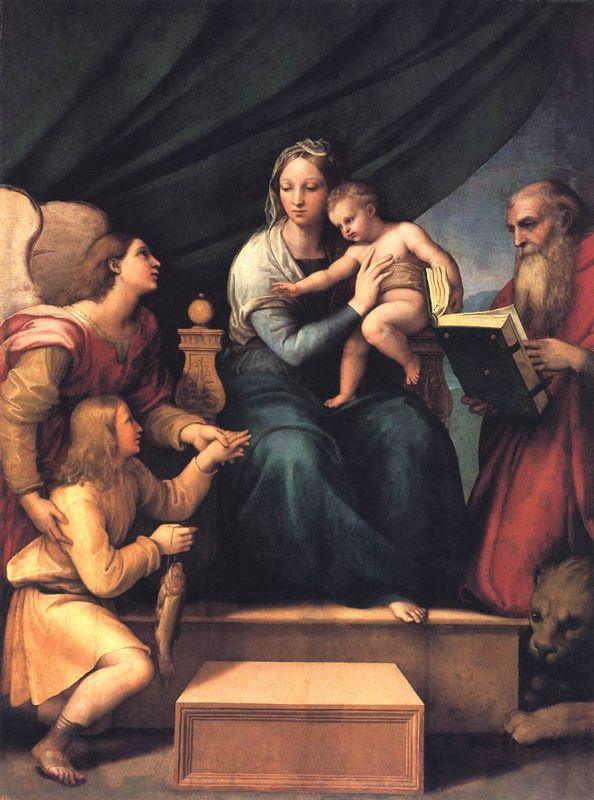 The Madonna of the Fish (The Madonna with the Archangel Gabriel and St. Jerome)  - Raphael