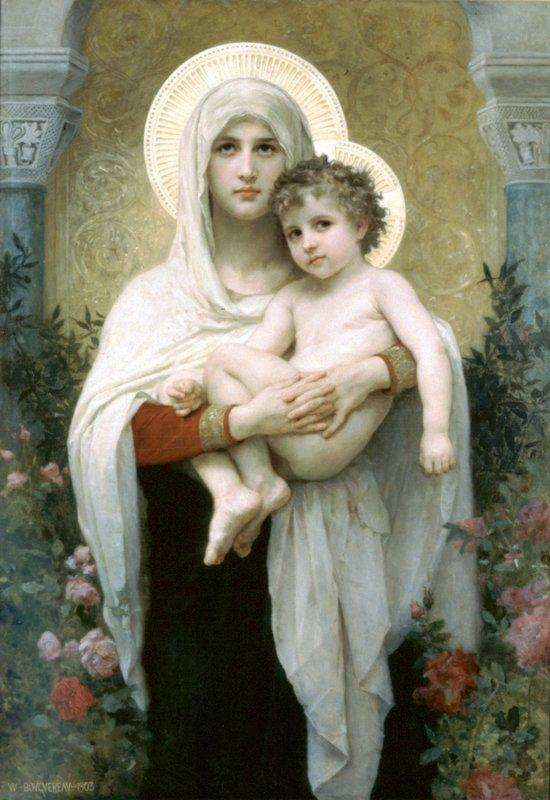 The Madonna of the Roses - William-Adolphe Bouguereau