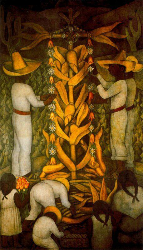 The Maize Festival - Diego Rivera