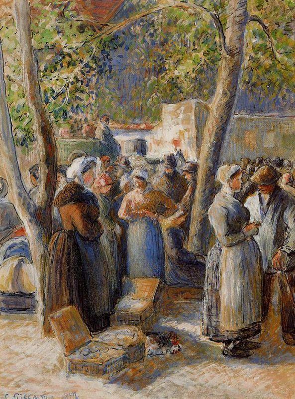 The Market in Gisors - Camille Pissarro