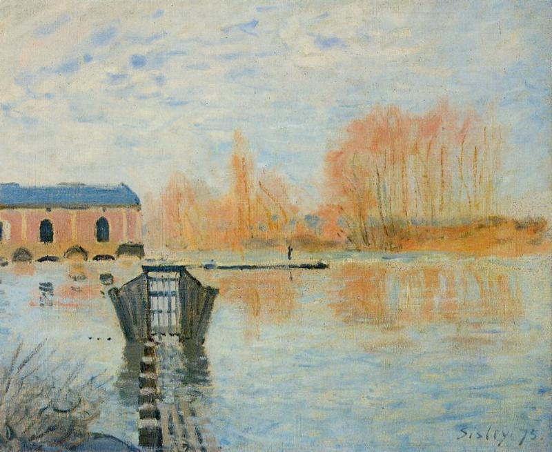 The Marly Machine and the Dam - Alfred Sisley