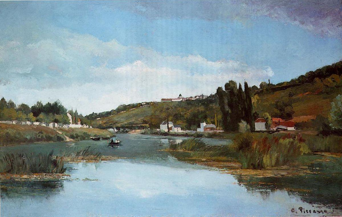 The Marne at Chennevieres - Camille Pissarro