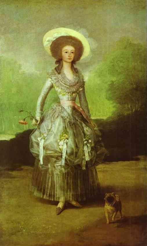 The Marquesa de Pontejos - Francisco Goya