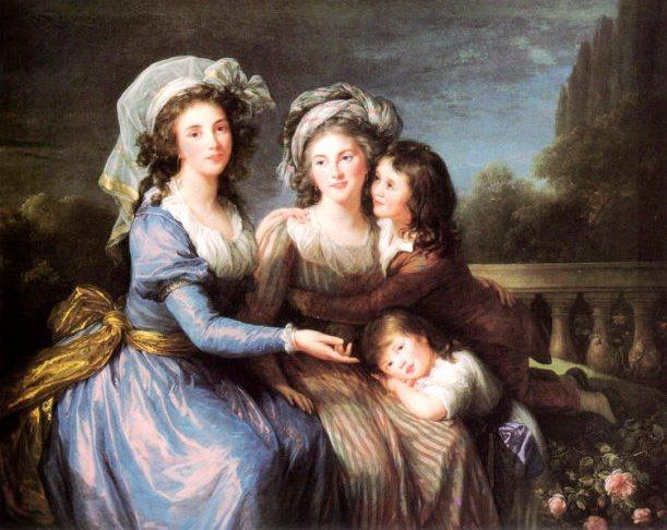 The Marquise de Pezay, and the Marquise de Rouge with Her Sons Alexis and Adrien - Louise Elisabeth Vigee Le Brun