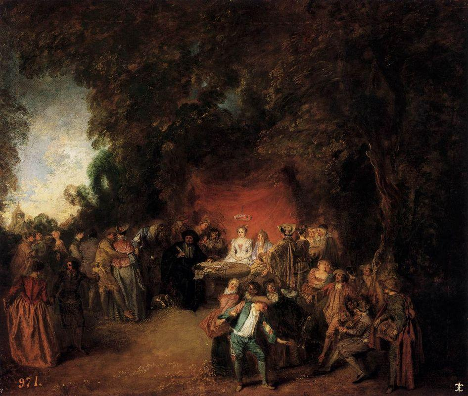 The Marriage Contract - Antoine Watteau