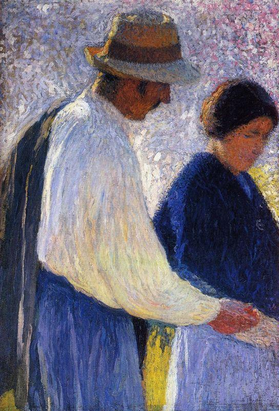 The Married Couple Study for Reapers - Henri Martin