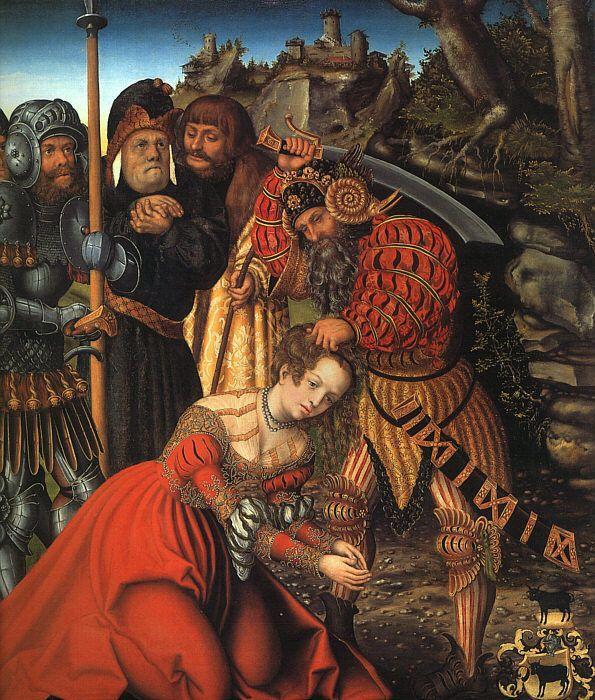 The Martyrdom of St. Barbara - Lucas Cranach the Elder