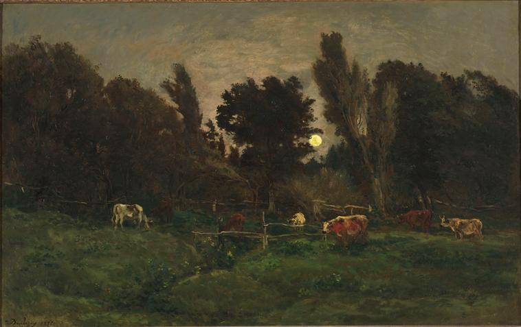 The meadow of graves in Villerville - Charles-Francois Daubigny
