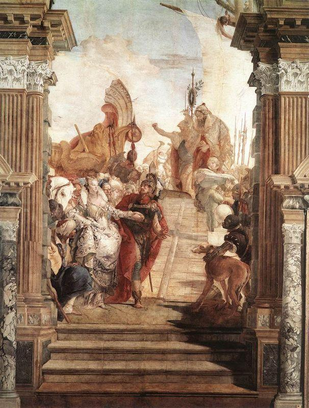 The Meeting of Anthony - Giovanni Battista Tiepolo