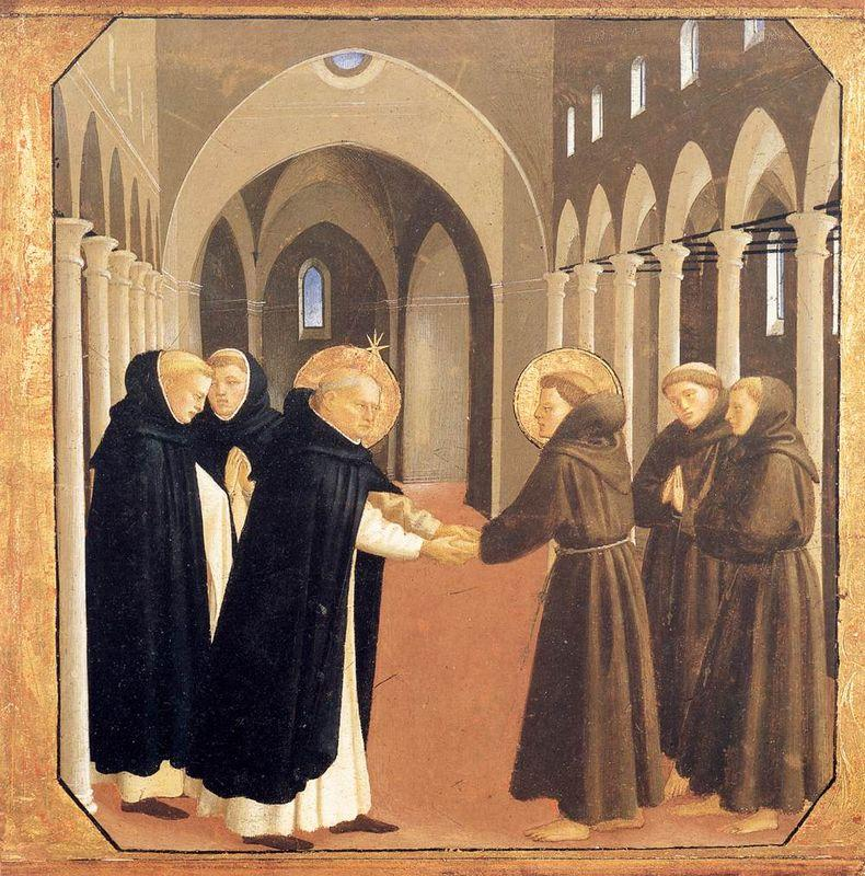 The Meeting of Sts. Dominic and Francis of Assisi - Fra Angelico