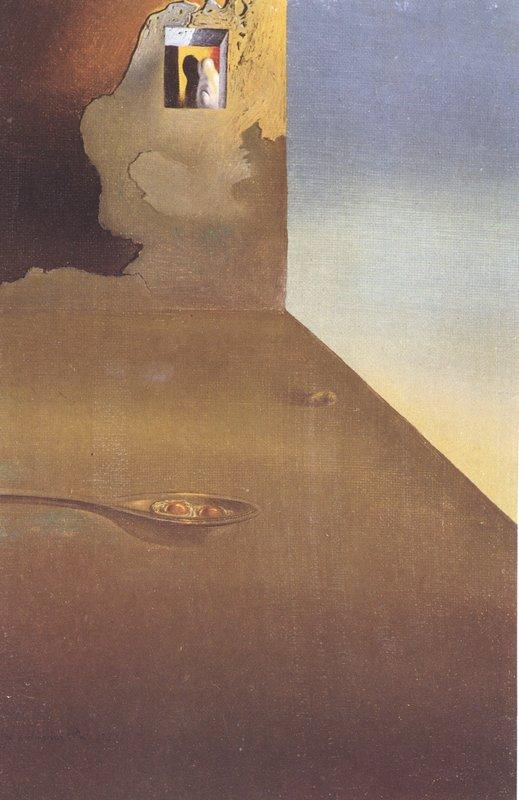 The Meeting of the Illusion and the Arrested Moment - Fried Eggs Presented in a Spoon - Salvador Dali