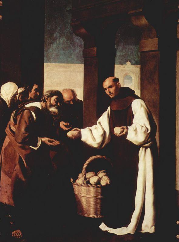 The mercy of Fra Martin de Vizcaya - Francisco de Zurbaran