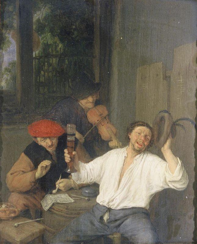 The Merry Drinkers - Adriaen van Ostade