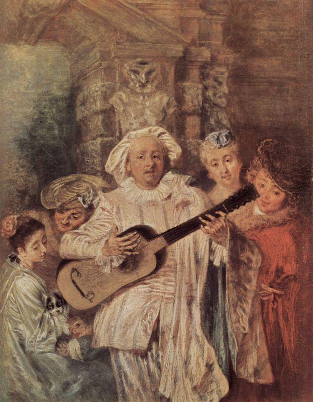 The Mezzetin's Family - Antoine Watteau
