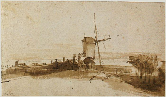 The Mill on the Het Blauwhoofd - Rembrandt