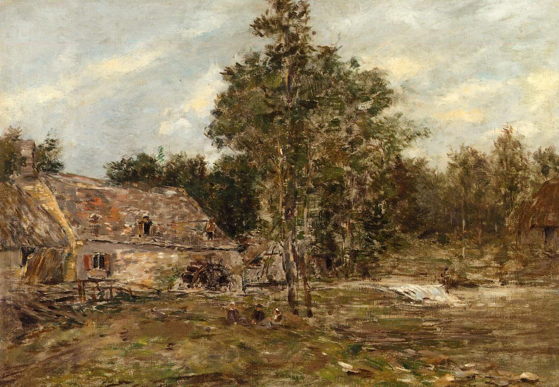 The Mill, Saint-Cenery - Eugene Boudin