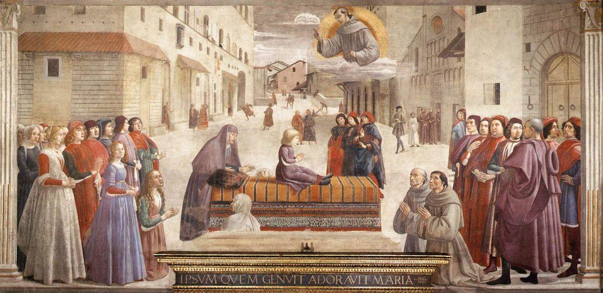 The Miracle of a Child - Domenico Ghirlandaio