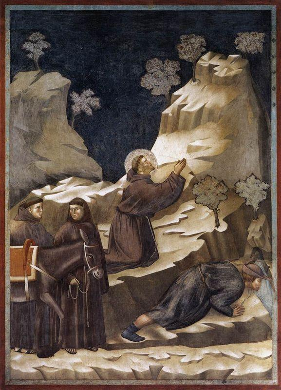 The Miracle of the Spring - Giotto