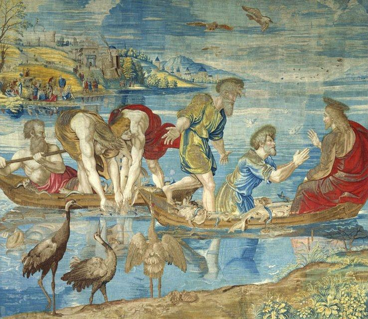 The Miraculous Draught of Fishes (cartoon for the Sistine Chapel)  - Raphael