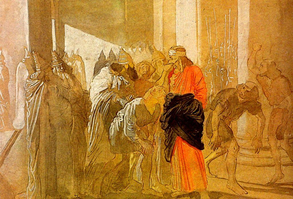 The Mocking of Christ. From the biblical sketches. - Alexander Ivanov